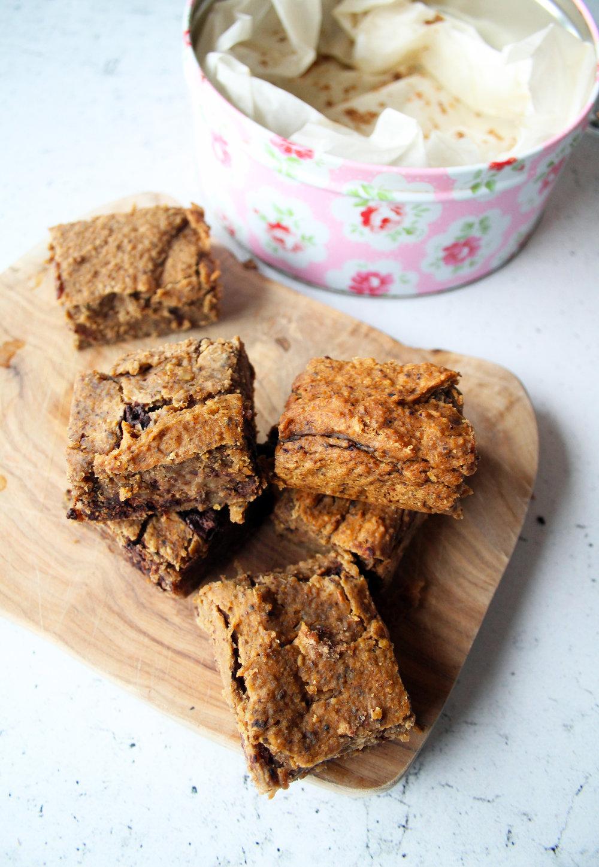 Chocolate and cashew blondies | The Flourishing Pantry.jpg