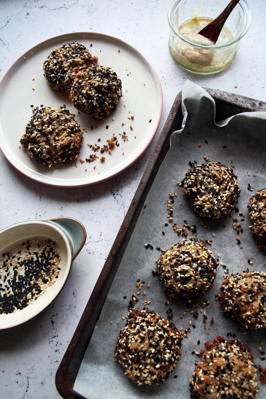 Date and tahini cookies | The Flourishing Pantry