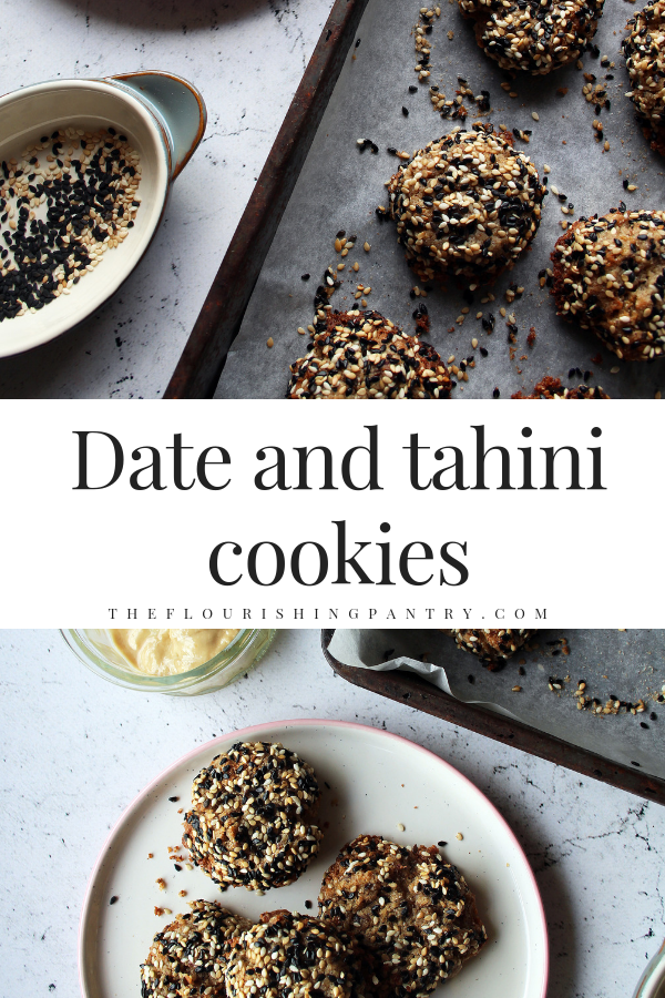PINTEREST | Date and tahini cookies | The Flourishing Pantry.png