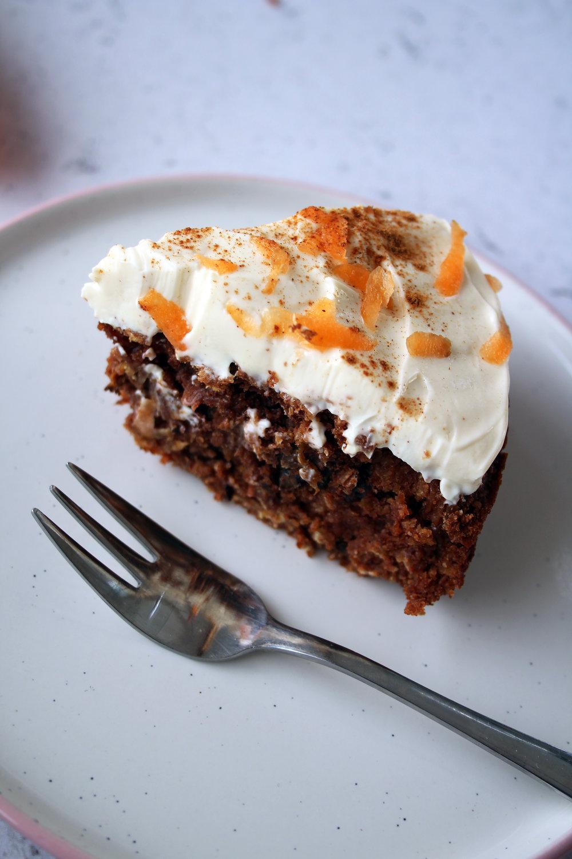 Healthy carrot cake recipe   The Flourishing Pantry