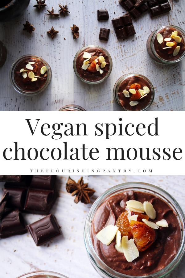 PINTEREST | Vegan chocolate mousse | The Flourishing Pantry.png