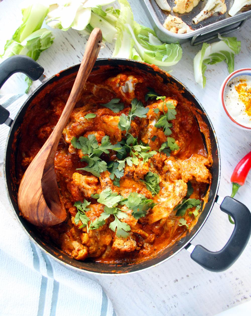 Roasted cauliflower curry | The Flourishing Pantry