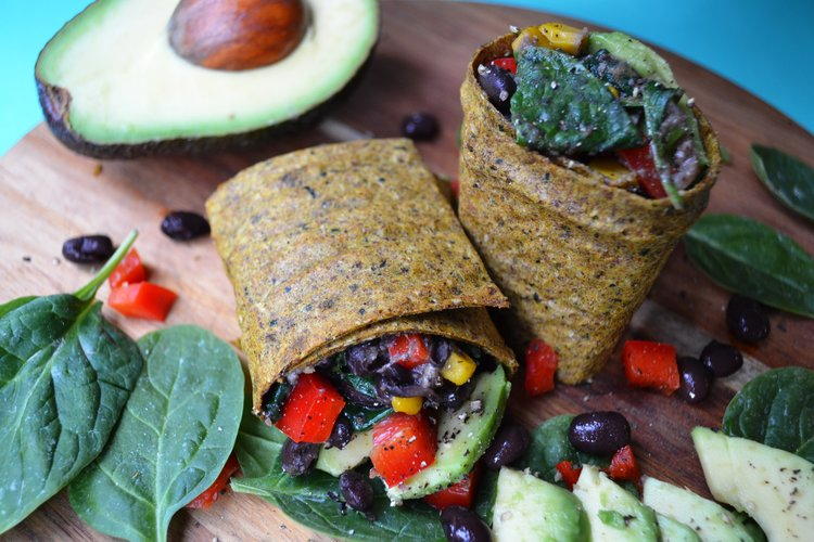 Black bean breakfast burrito | The Flourishing Pantry