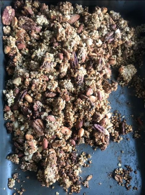 Peanut butter banana granola | The Flourishing Pantry
