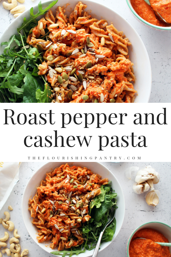 PINTEREST | Roast pepper and cashew pasta | The Flourishing Pantry.png