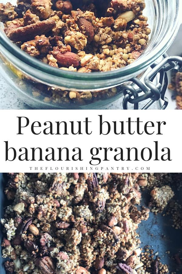 Peanut butter banana granola | The Flourishing Pantry.png