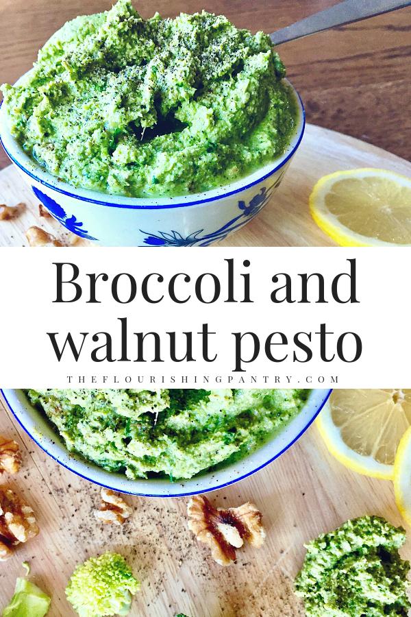 Broccoli and walnut pesto | The Flourishing Pantry | healthy recipes