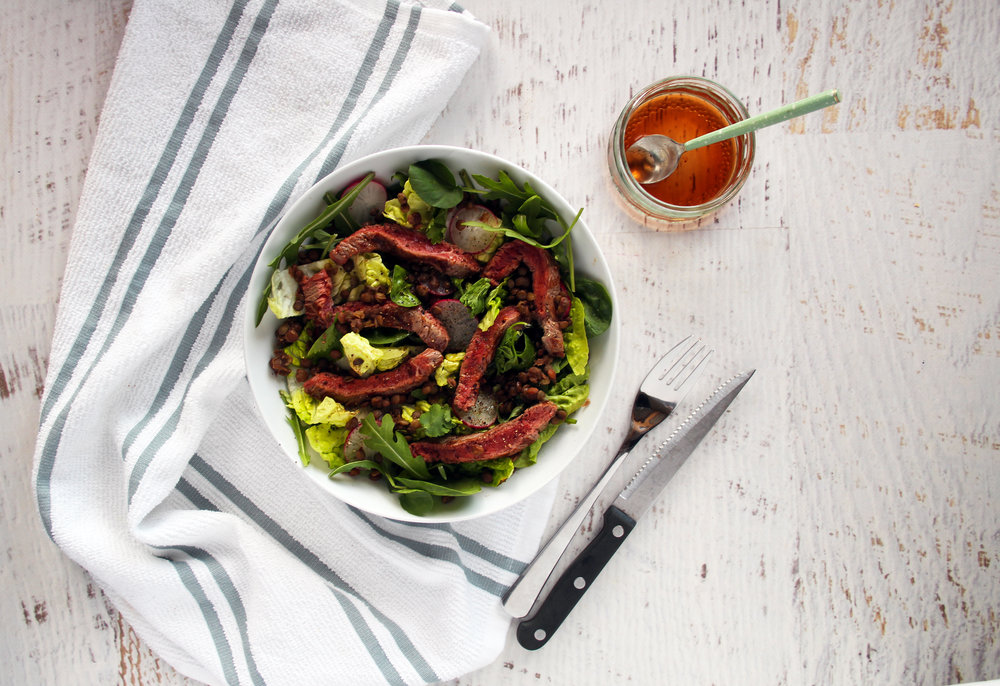 Beef and lentil salad | The Flourishing Pantry