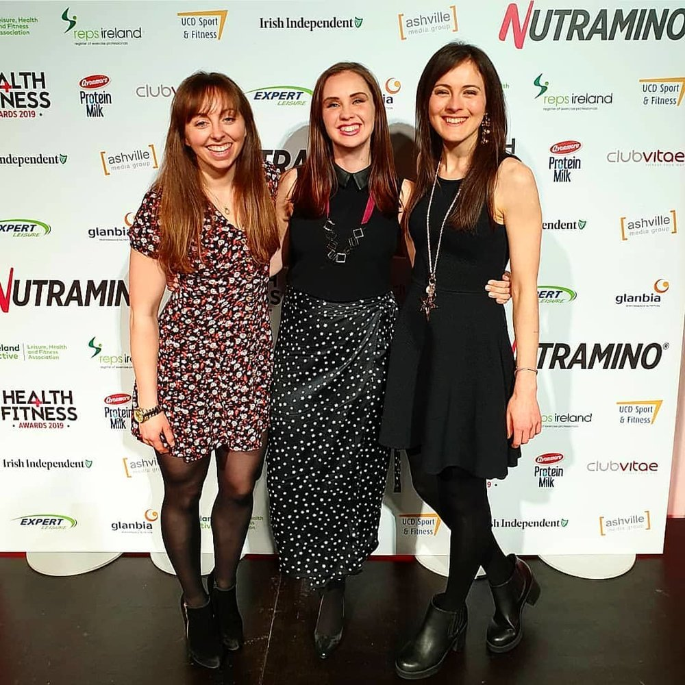 Me with my lovely blogger pals - Sinead from Delalicious (photo credit) and Ciara from The Irish Balance