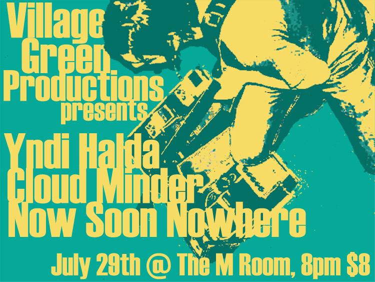 Cloud Minder show poster at M Room