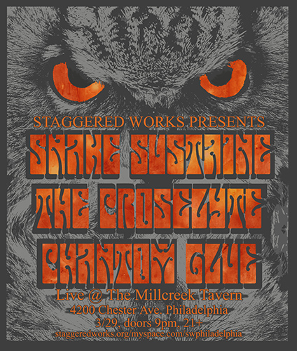 Staggered Works show flier at Millcreek Tavern