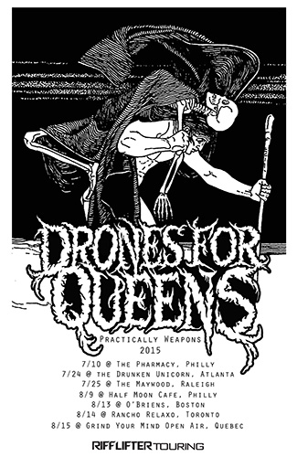 Riff Lifter tour poster for Drone For Queens