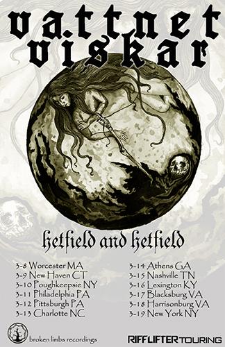 Riff Lifter Tour poster for Vattnet Viskar/Hetfield and Hetfield