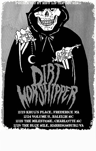 Riff Lifter tour poster for Dirt Worshipper