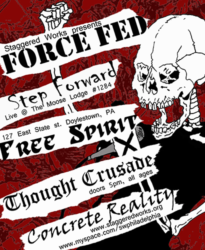 Staggered Works show flier at The Moose Lodge