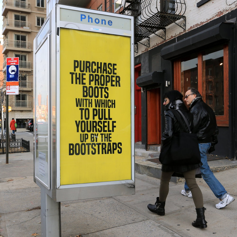 Purchase the Proper Boots With Which to Pull Yourself By the Bootstraps  by Kameelah Janan Rasheed. Photo by Luna Park.