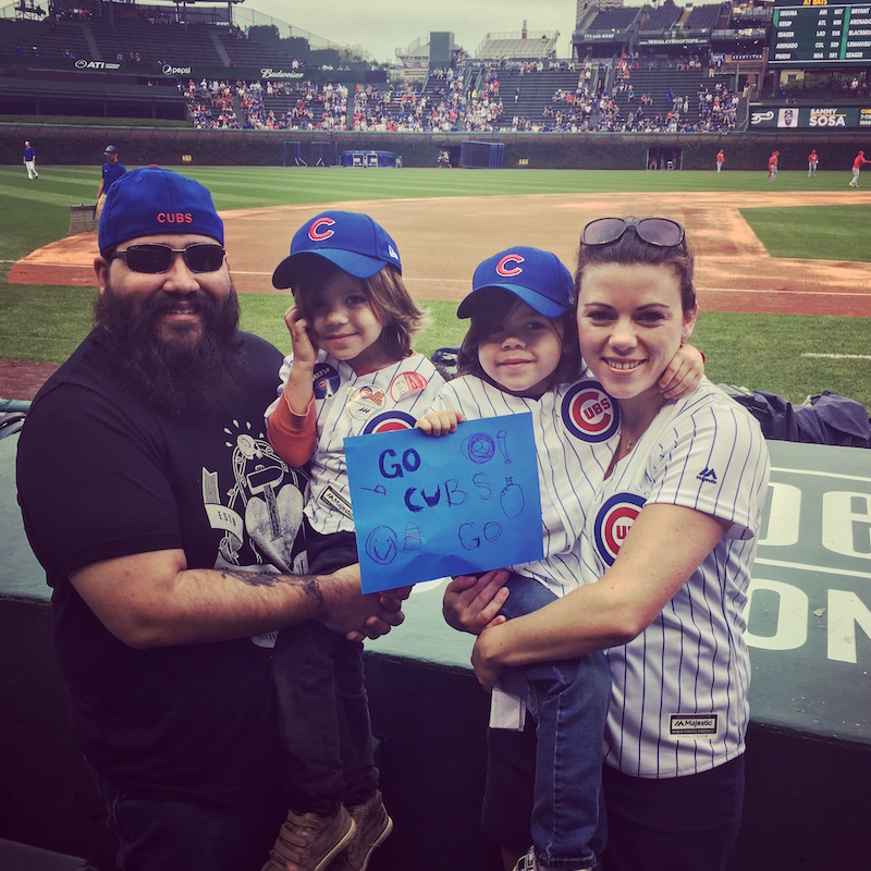 Fofo and the fam' at the Cubs game.