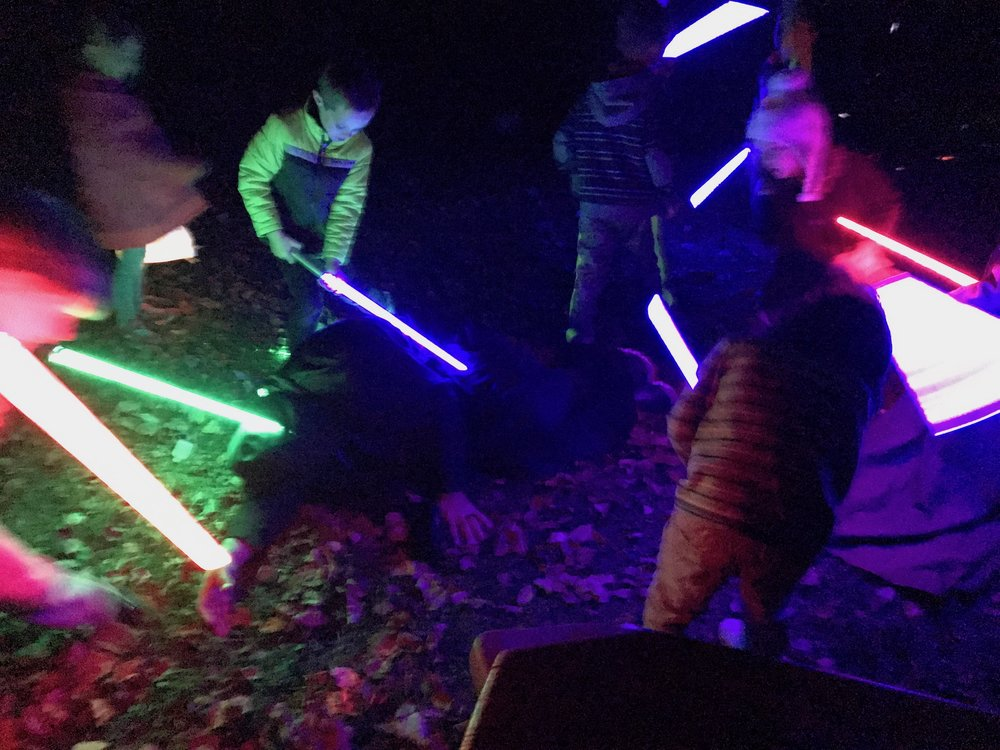 Jimmy's son and friends brutalizing a church member at the Star Wars themed birthday party.