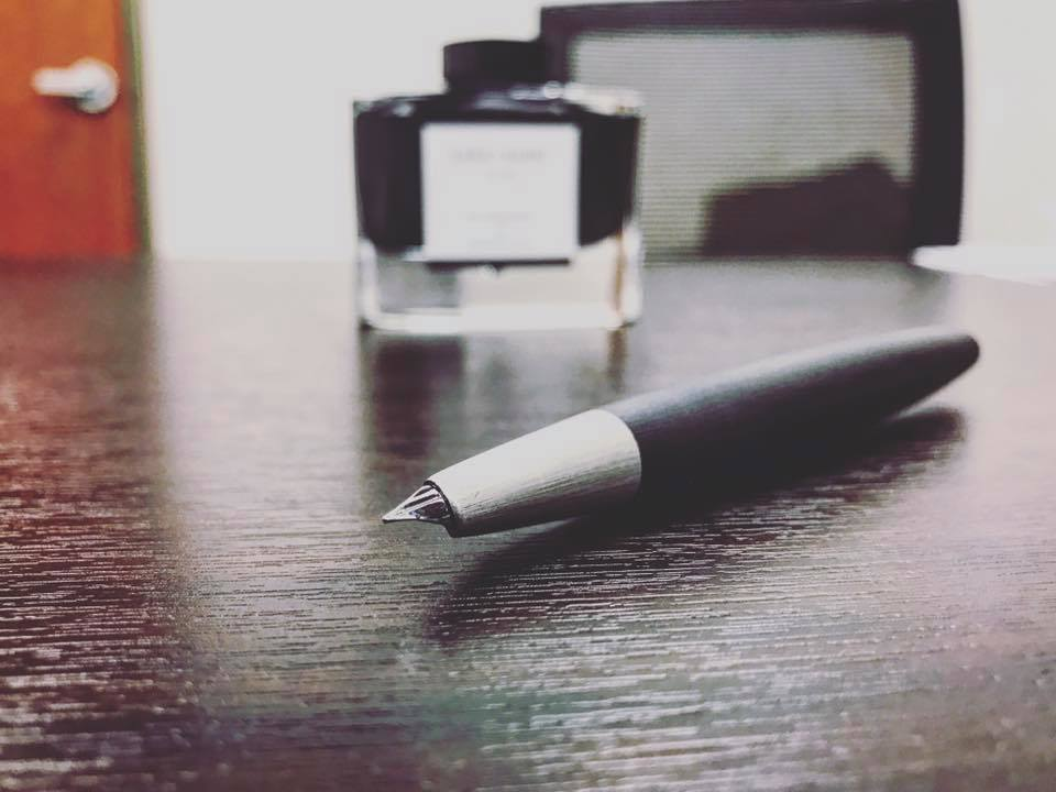 Jimmy's new fountain pen.  The Lamy 2000 .