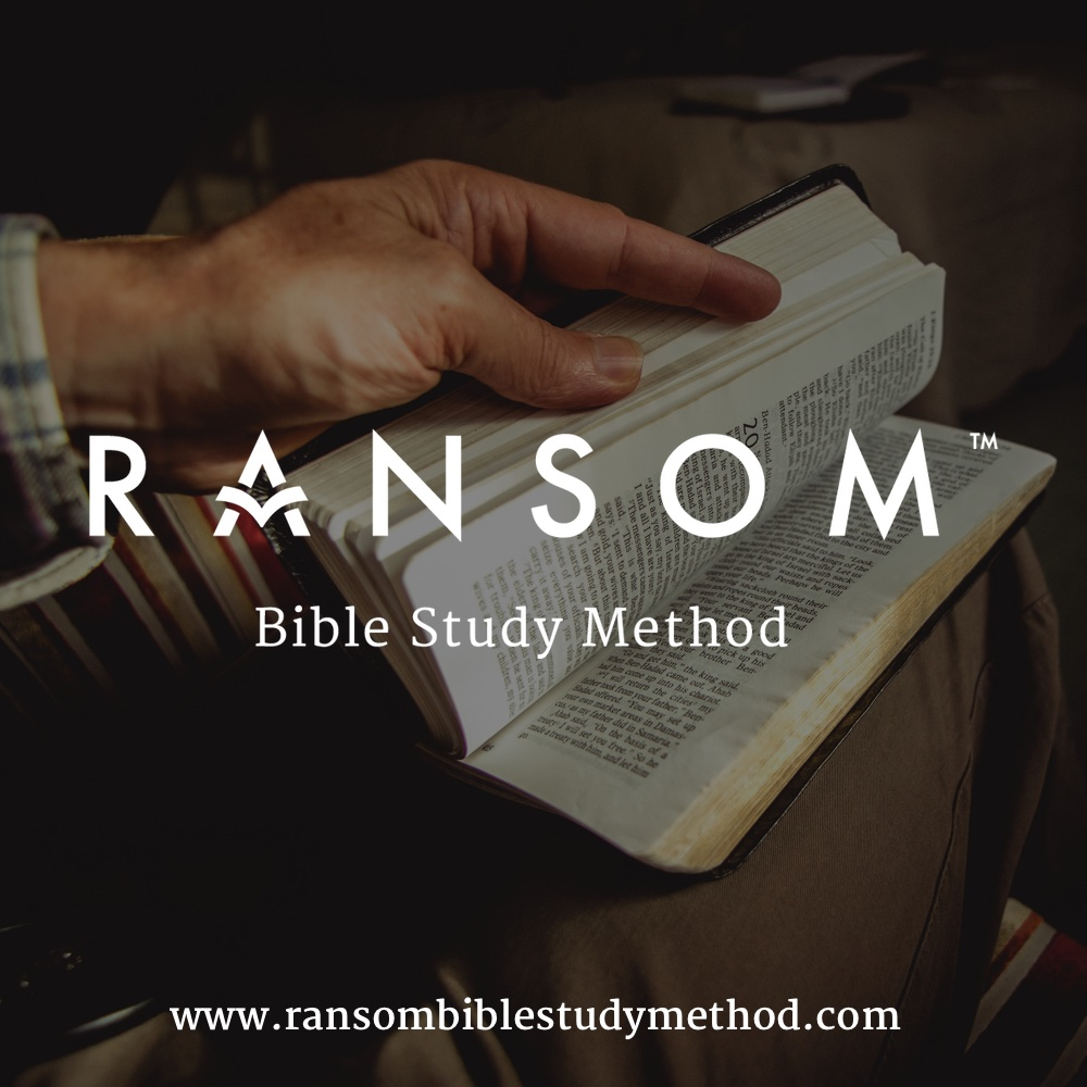 Help us spread the word about the RANSOM Bible Study Method on social media by directing people to   www.ransombiblestudymethod.com  and using the image above.