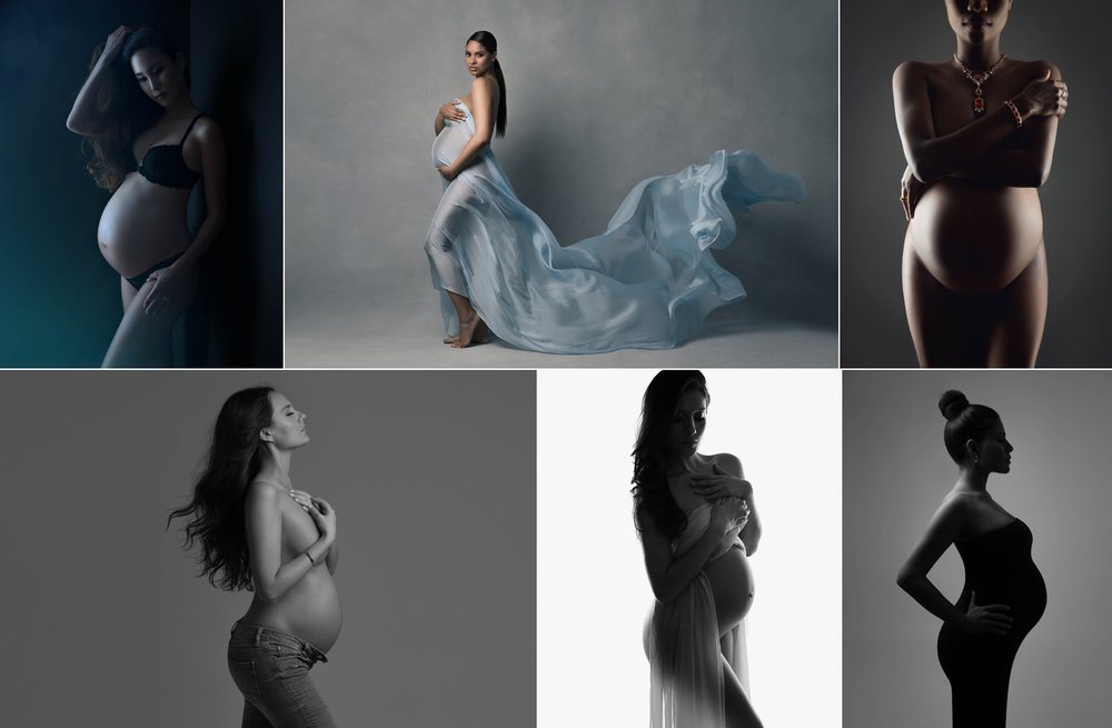 Stunning artistic pregnancy portraits, maternity photography by Lola Melani NYC.