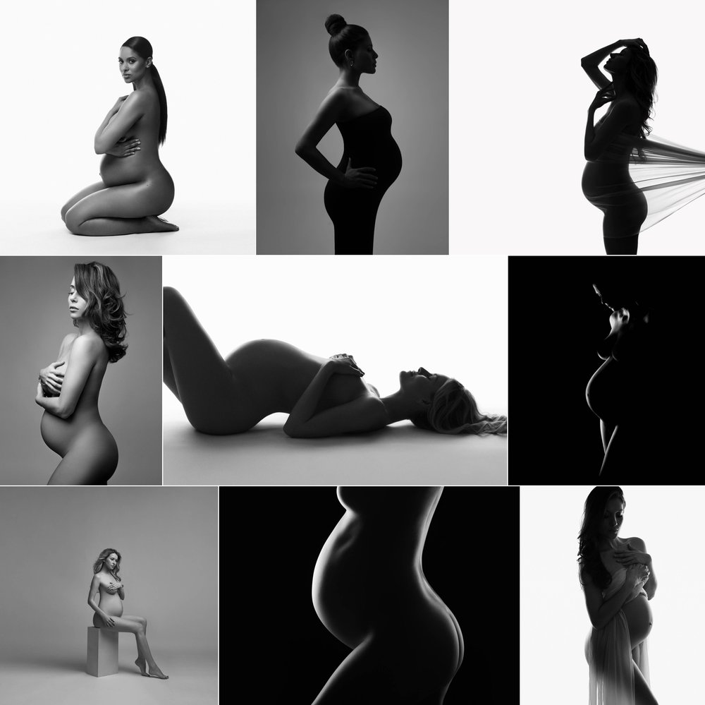 Powerful b&w portraits of pregnancy, beauty of shape, maternity photography