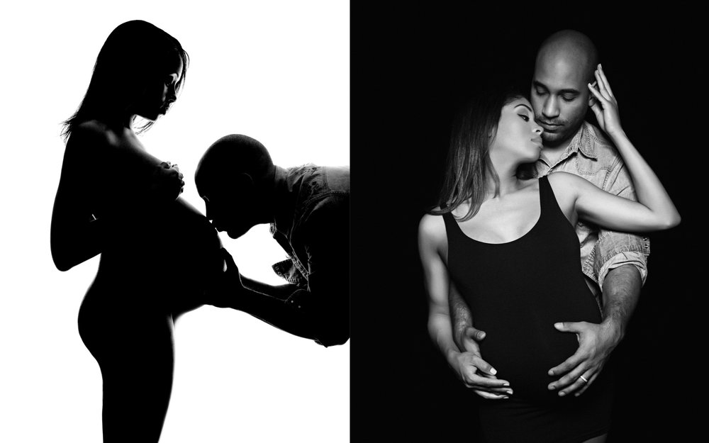 NYC maternity silhouette photography