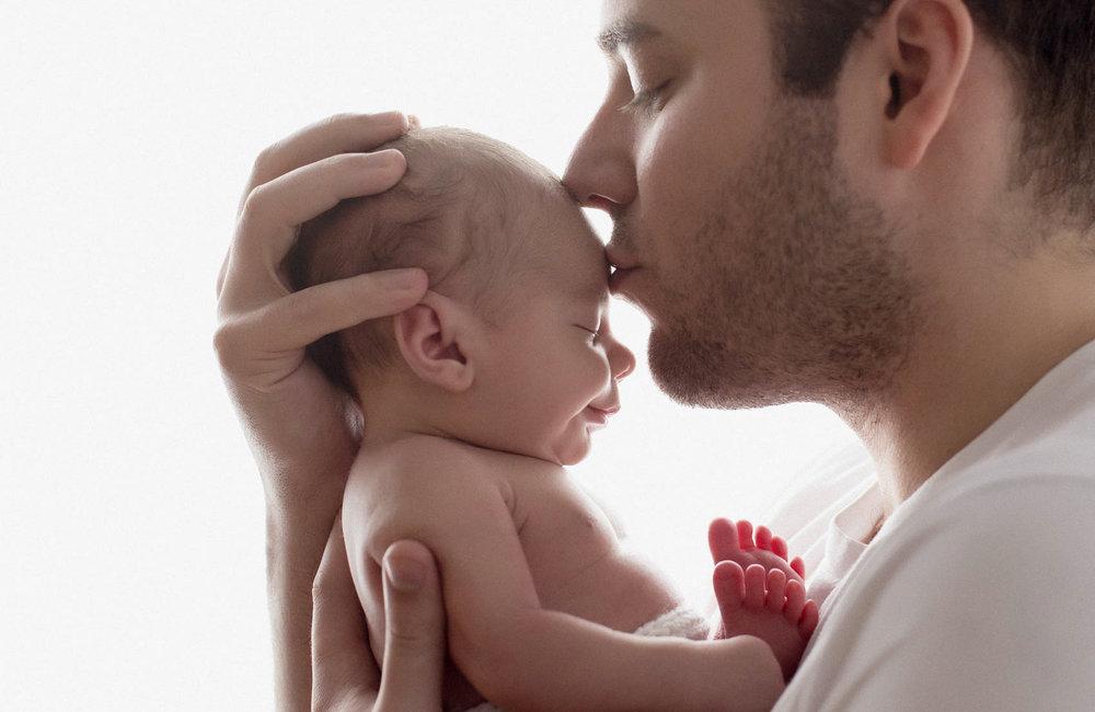 NYC newborn family portraits