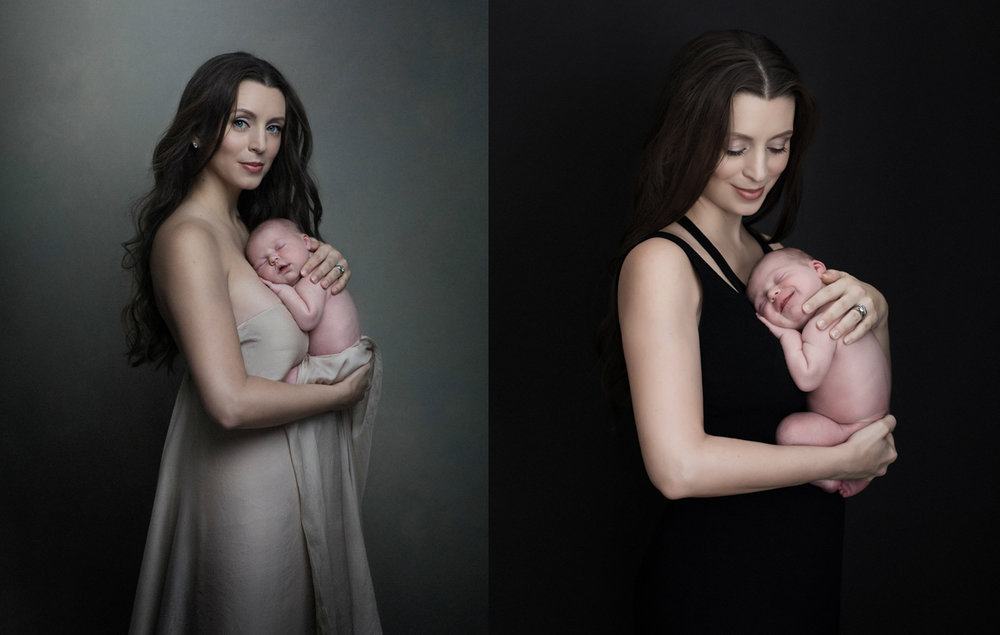 beautiful mother and baby portraits