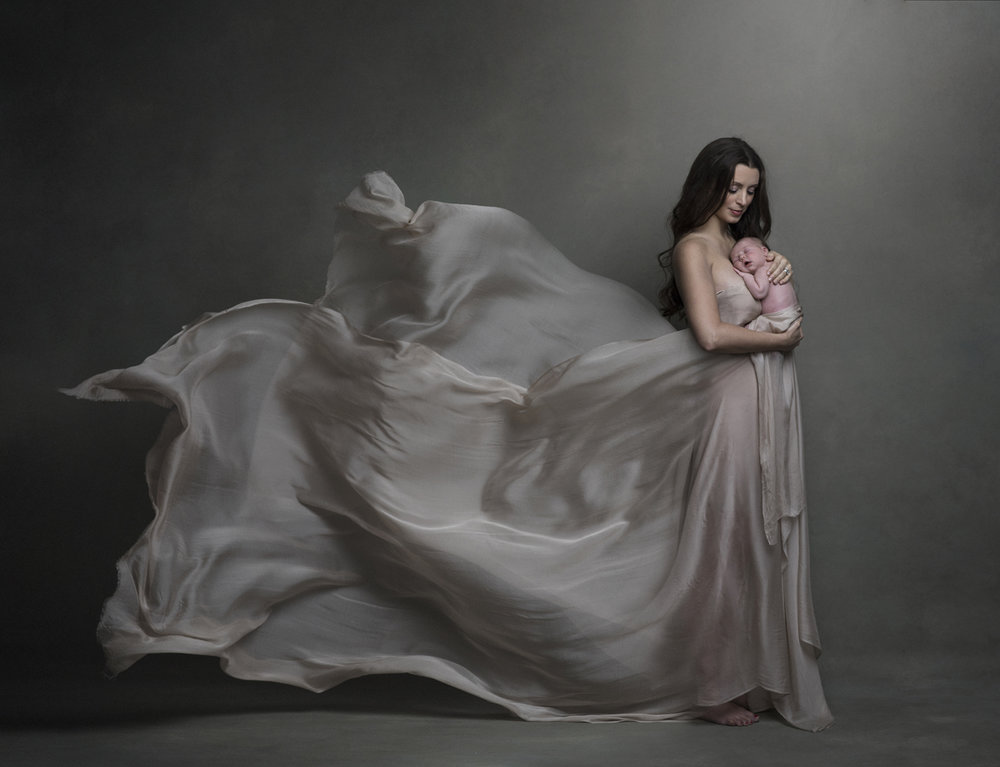 fine-art newborn photography