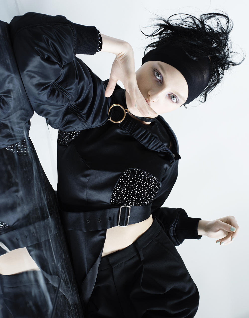 Full look: Noir Kei Ninomiya. Choker: AMBUSH