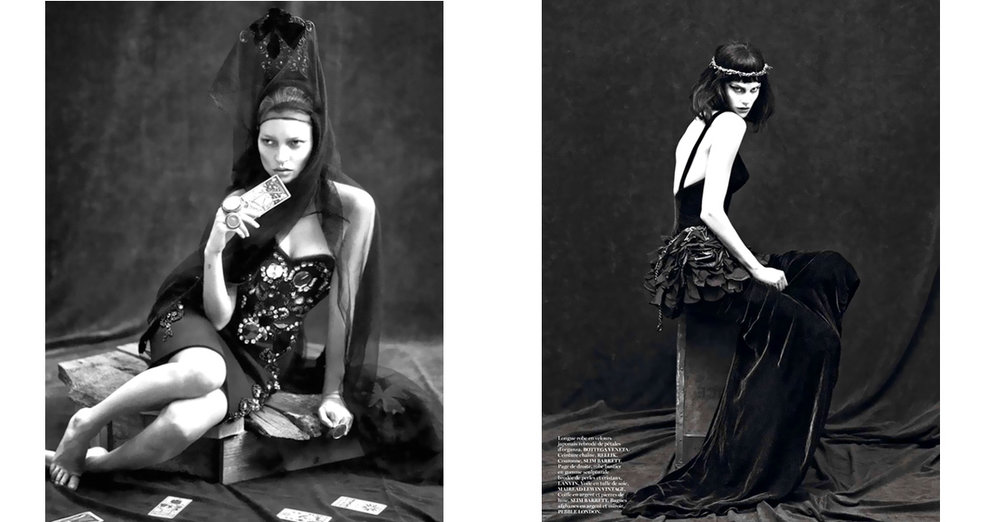Kate Moss & Saskia De Brauw by Mert & Marcus in   Vogue Paris 2012
