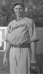 Carthage Browns baseball player Jimmie Bilbrey