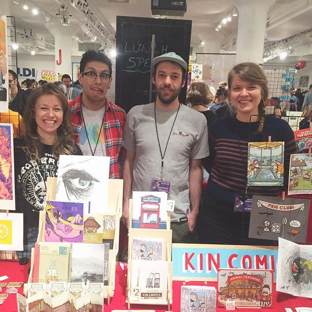 Still at MoCCA selling stuff with @katilacker , @karina_shor  and @the_egg_oh . Come say hi if you are around , table H 246 :)