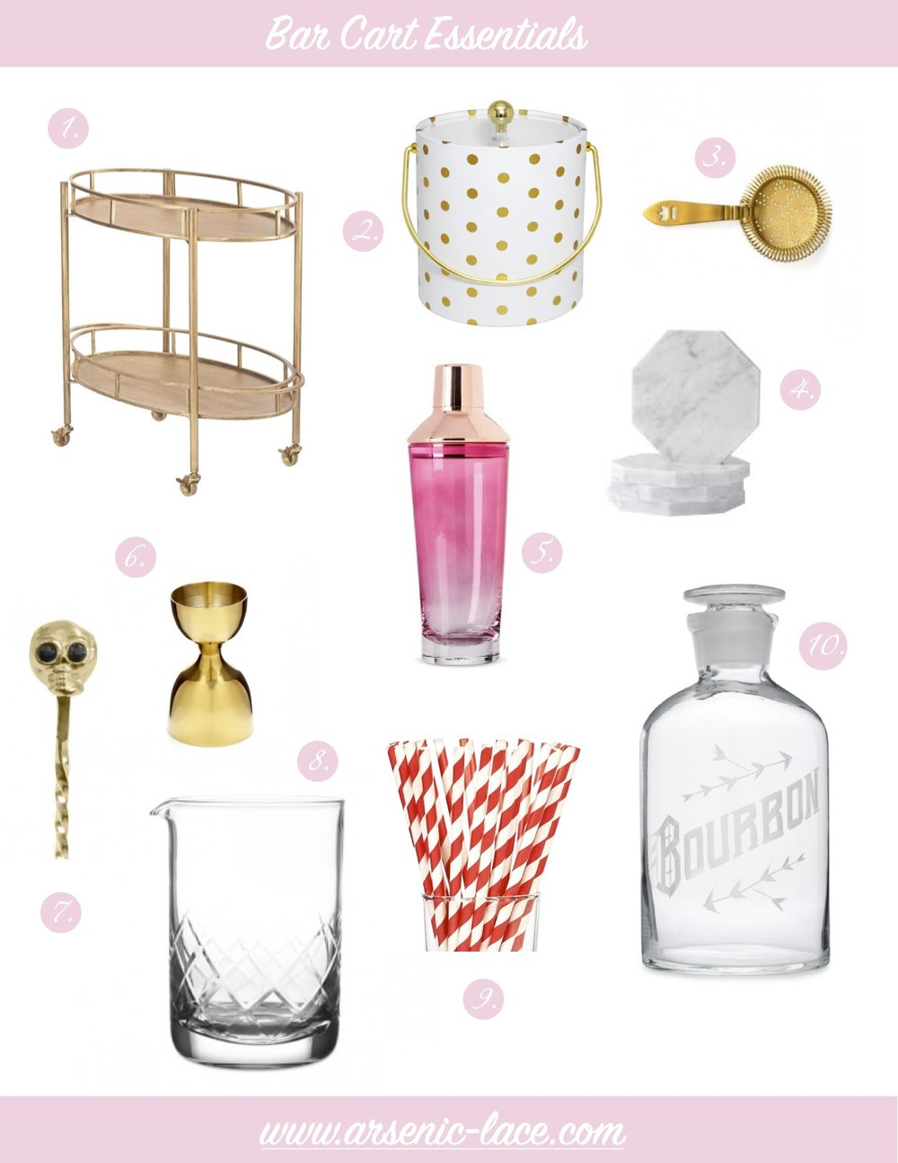 Bar Cart Essentials Arsenic Lace