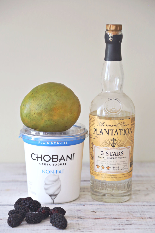 Boozy Blackberry and Mango Lassi (click through for recipe)