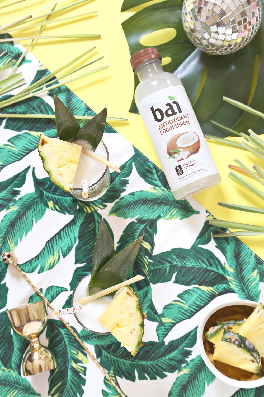 Lemongrass Pina Colada with Bai (click through for recipe)