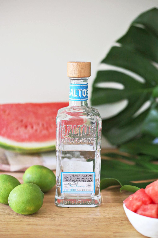 Frozen Watermelon Margarita | ARSENIC-LACE.COM | Summer Cocktails | click through for recipe