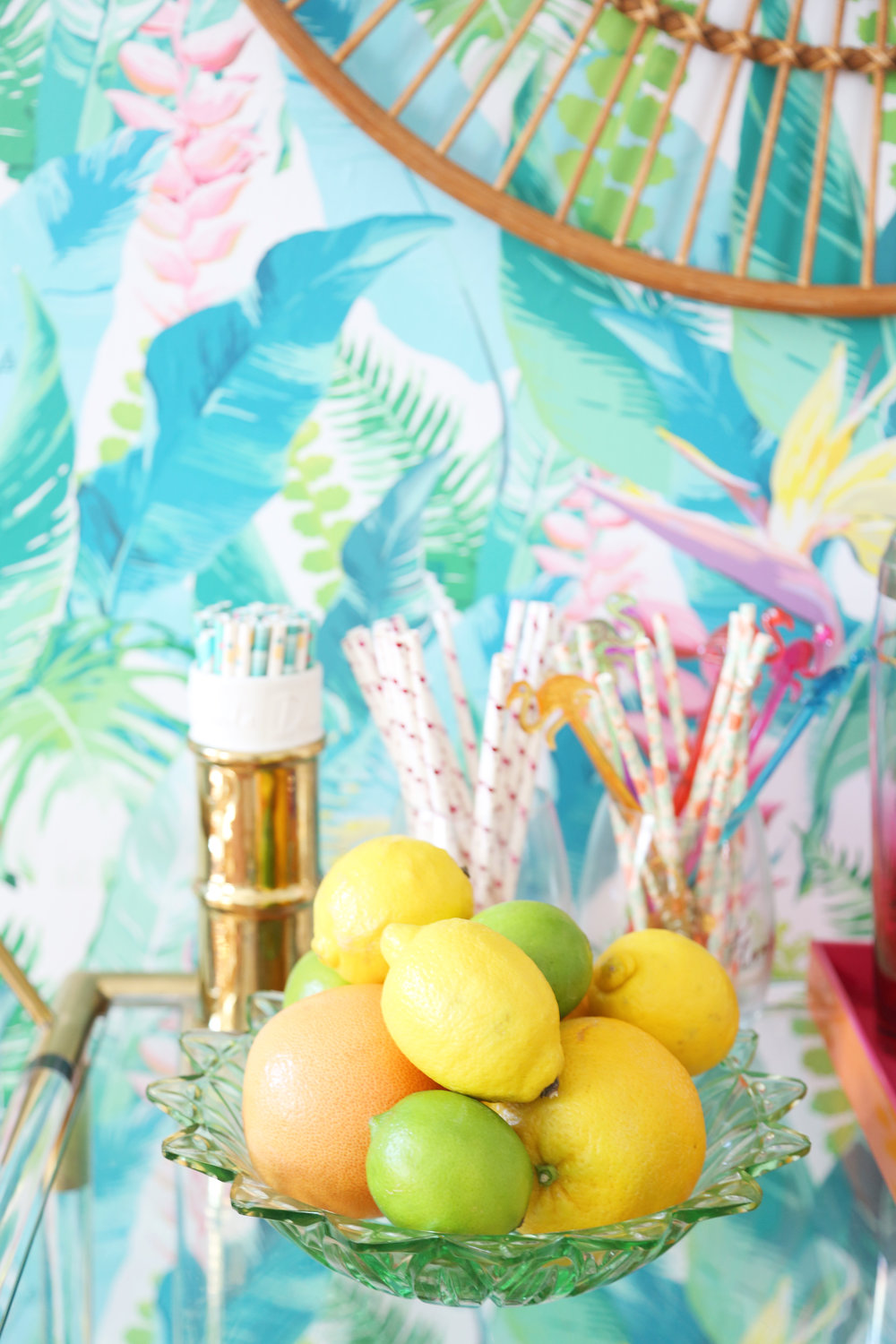 Styling Your Home Bar | Floral Arranging Tips | ARSENIC-LACE.COM | Bloomia Giveaway