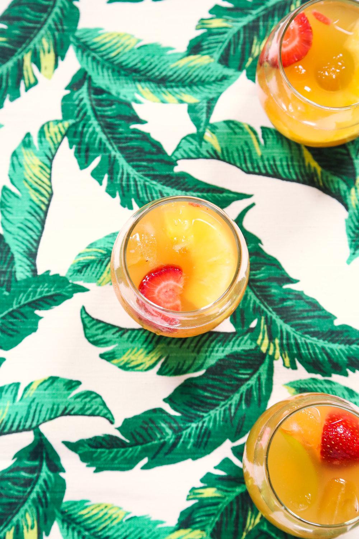 Tropical Rosé Sangria | ARSENIC-LACE.COM | Sangria | Summer Cocktails | Wine Cocktails | Rosé
