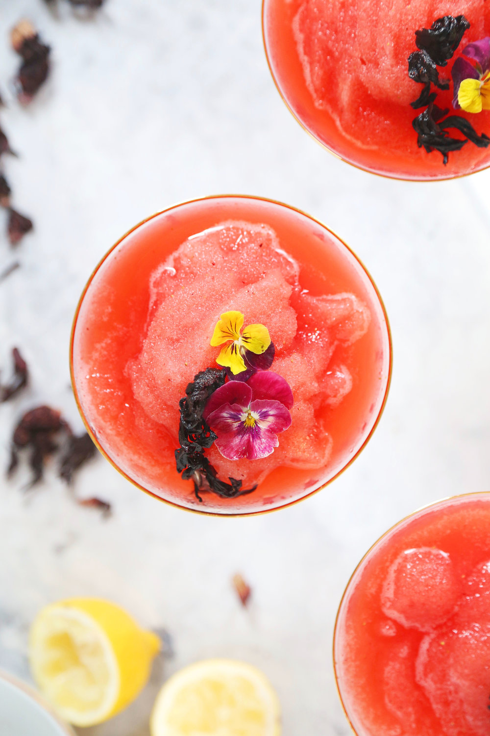 Strawberry Hibiscus Frosé | ARSENIC-LACE.COM | Sunday Kind  of Love | Palm Springs Style | Summer Cocktails
