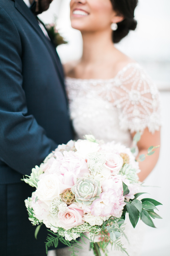 Beautiful pale blooms with succulents for the blushing bride I www.avenueievents.com.png