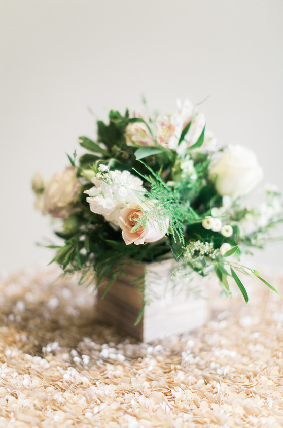 Rustic wood planters with lush garden roses and greenery I www.avenueievents.com.png