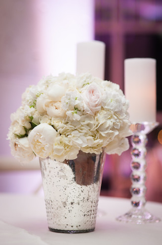Puff of white and mercury glass petite and perfect www.avenueievents.com.jpg