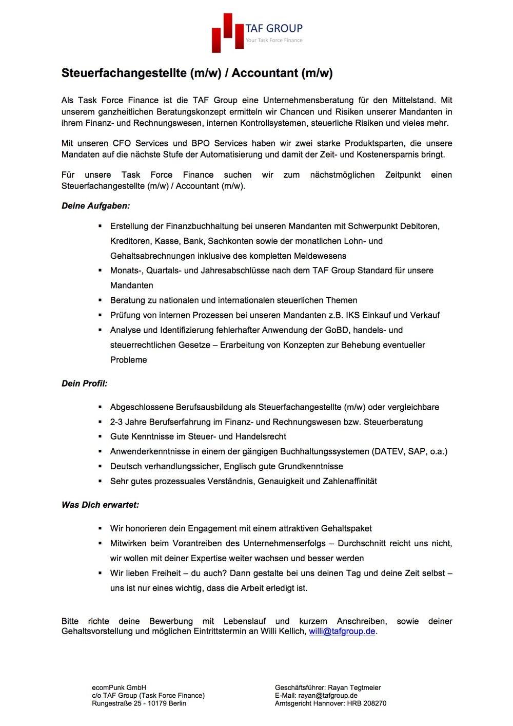 19_07_2017_Stellenanzeige_TAF Group_Steuerfachangestellte.jpg