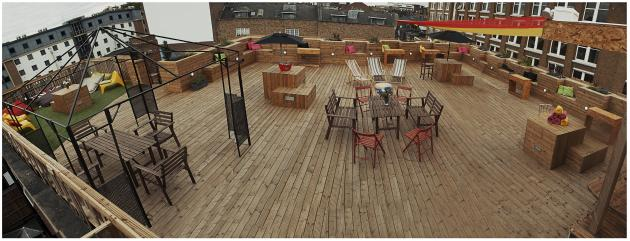 RED GALLERYLDN ROOF TERRACE SPACE LANDSCAPE VIEW