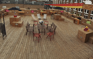 REDGALLERYLDN PORTRAIT VIEW OF TERRACE SPACE