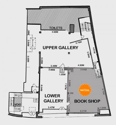 REDGALLERYLDN  2D GALLERY & UPPER GALLERY SPACES LAYOUT