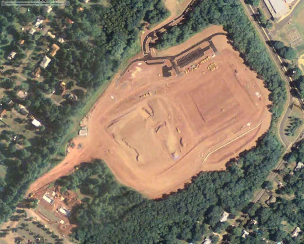 8/2006 - woods cleared away, construction begins