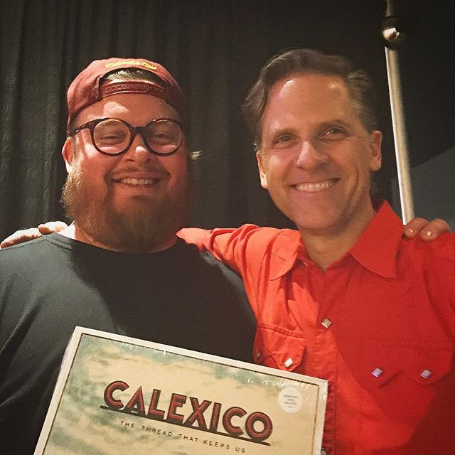 Look at these two gents! The amazing Joey from @casadecalexico and @jasonsnell at @woodwardtheater such a wonderful night! Thanks for swinging by @wehavebecomevikings shop! Have a great time on that open road!